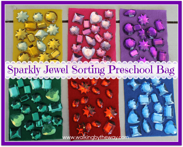 Sparkly Jewel Sorting Preschool Busy Bag