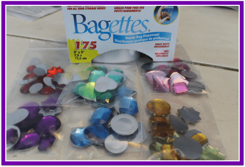 Gem Sorting Preschool Activity Bag