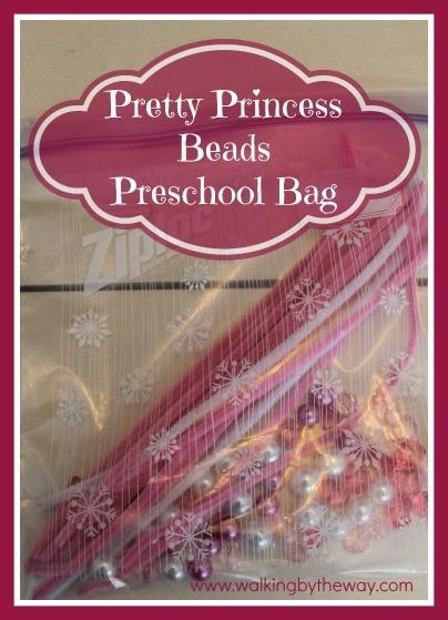 Pretty Princess Beads Preschool Bag