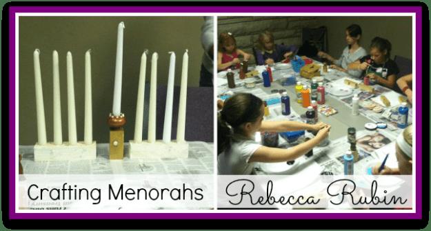 American Girl Class: Rebecca (crafting menorahs)