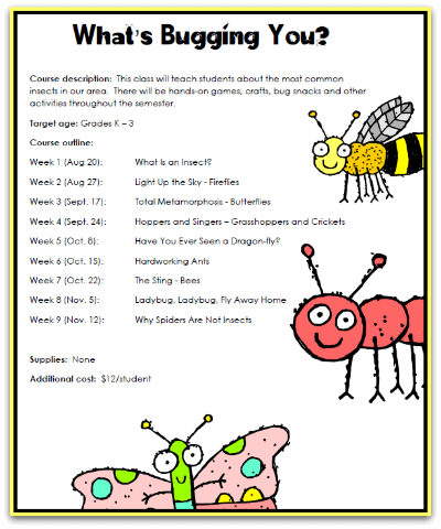 What's Bugging You? Insects Co-op Class Syllabus