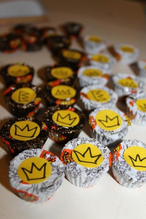 Chocolate Checkers with Crowns