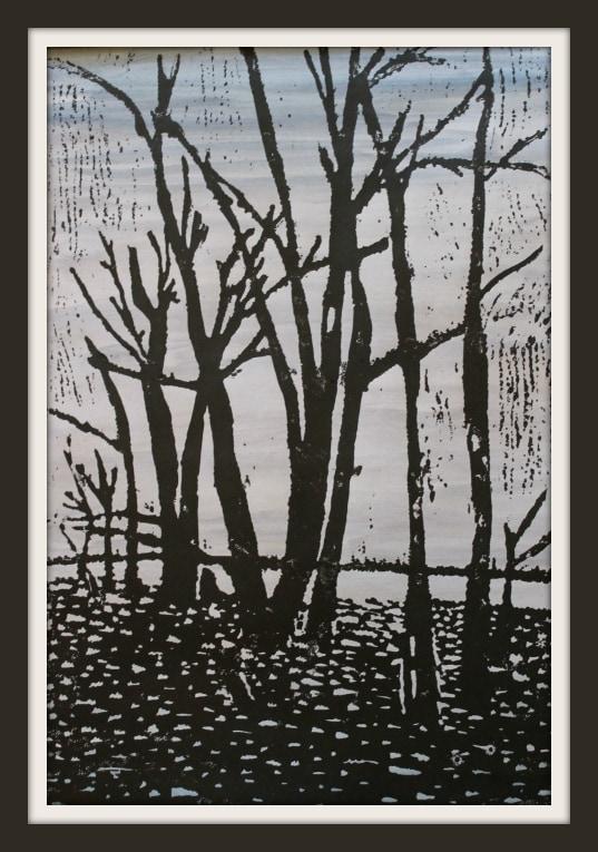 7th Grade Delight Directed Education (Linoleum Carving Print)