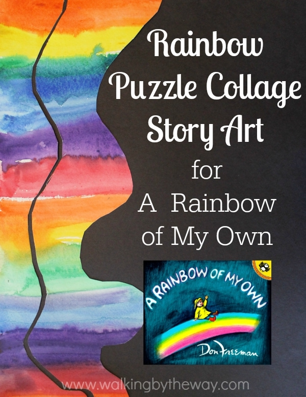 Rainbow Puzzle Collage Story Art