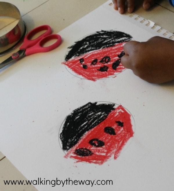 Ladybug Art for Eric Carle's Grouchy Ladybug