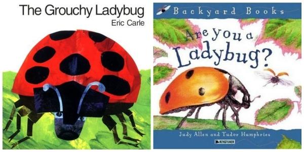 Ladybug Books for Ladybug Collage Art Project