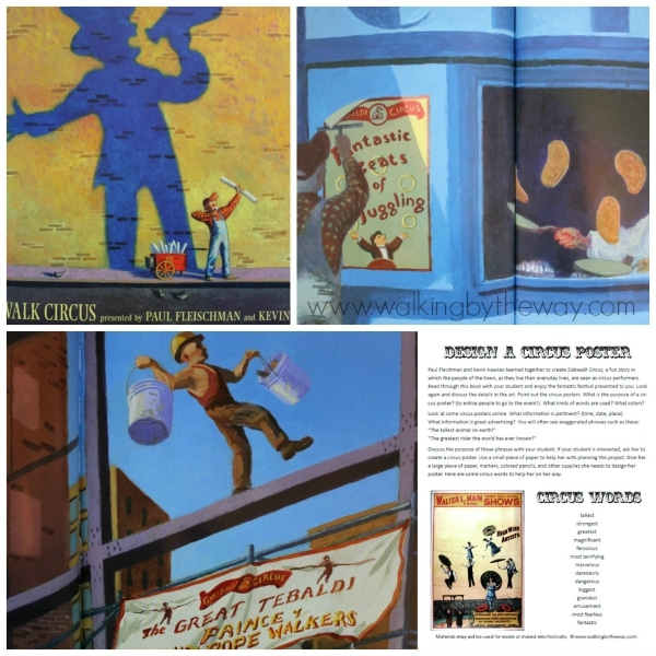Read Sidewalk Circus (Candlewick Press) and Design a Circus Poster