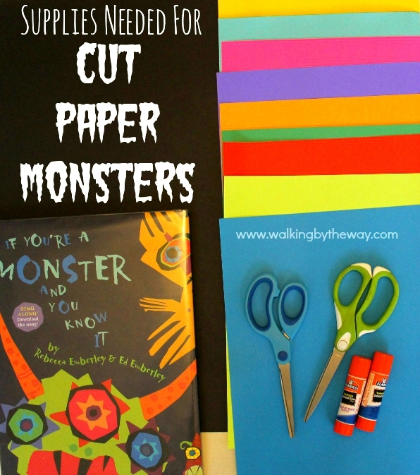 Story Art: Cut Paper Monsters for Ed Emberly Books from Walking by the Way