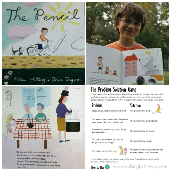 Learn conflict and resolution with the picture book, The Pencil by Allan Ahlberg (Candlewick Press)