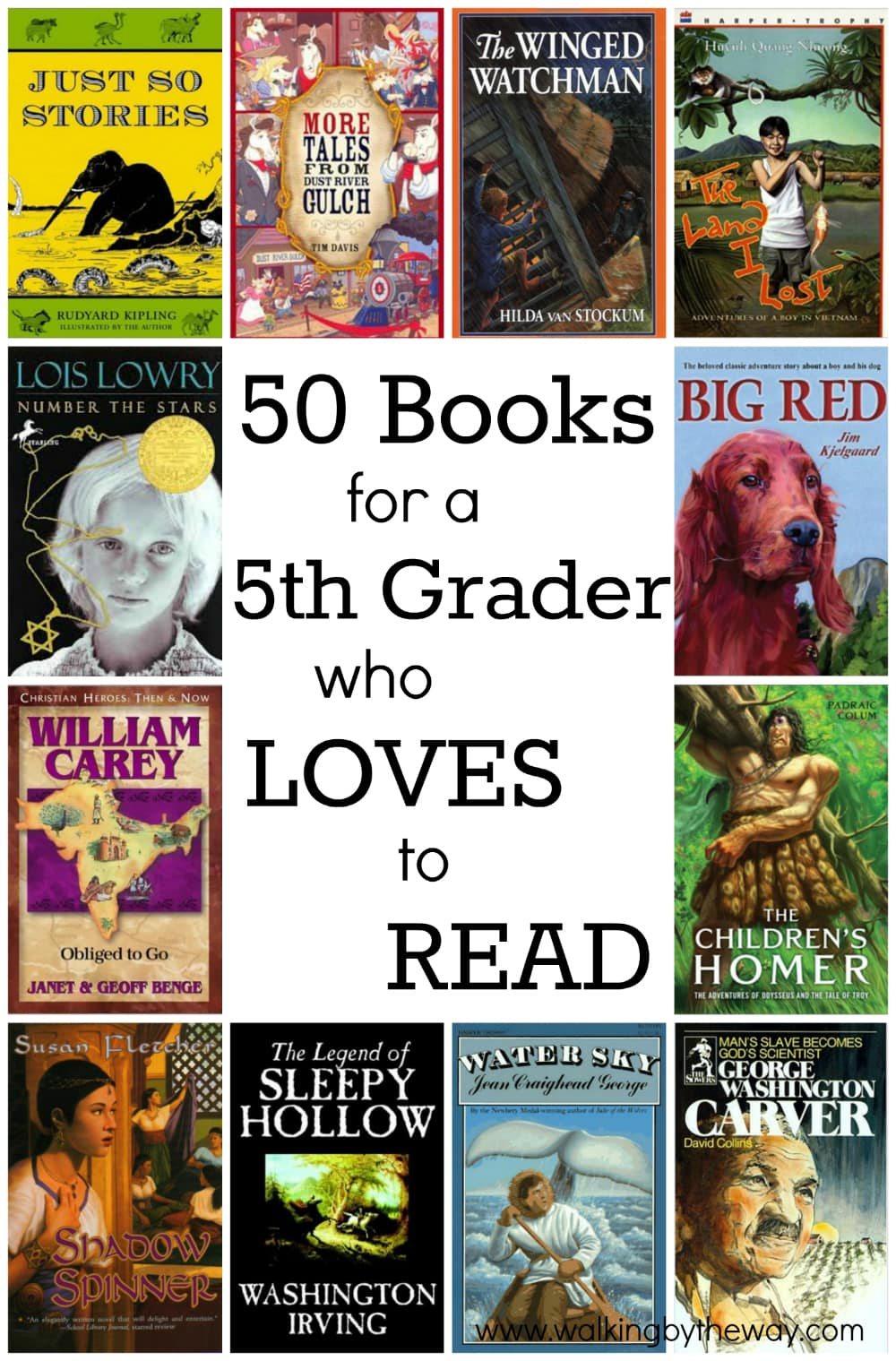 50 Books For A 5th Grader Who Loves To Read Walking By The Way
