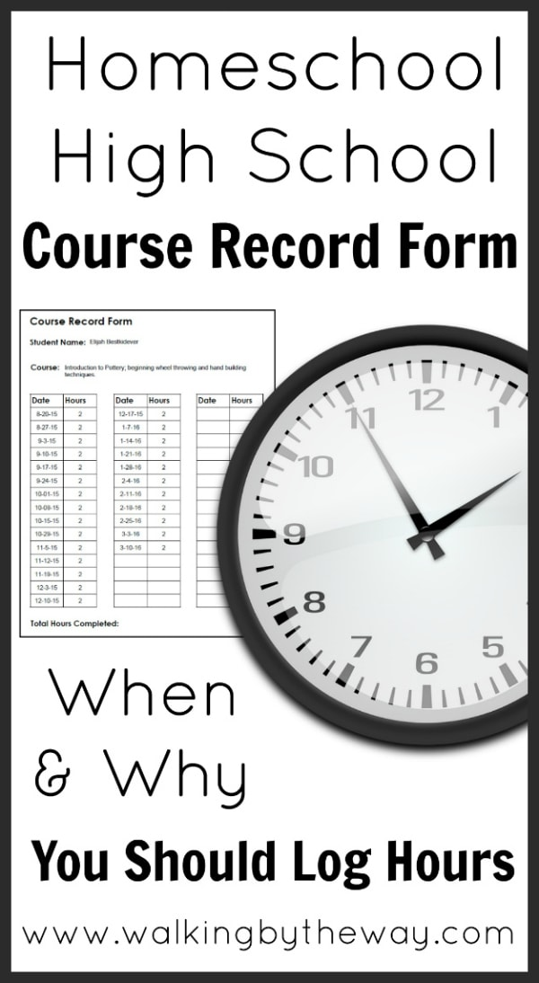 High School Course Record Form Walking By The Way