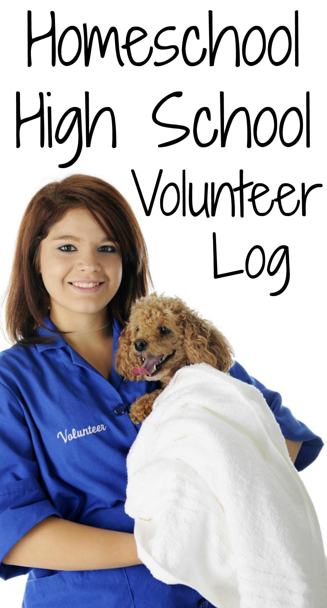 Homeschool High School Volunteer Log from Walking by the Way