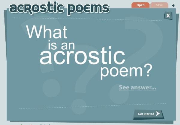 Try an acrostic poem with ReadWriteThink's interactive