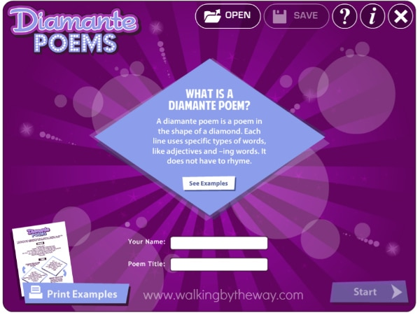 Create a Diamante Poem with ReadWriteThink's Interactive