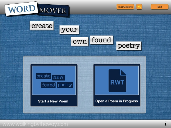 Write a Found Poem with ReadWriteThink's Word Mover Interactive