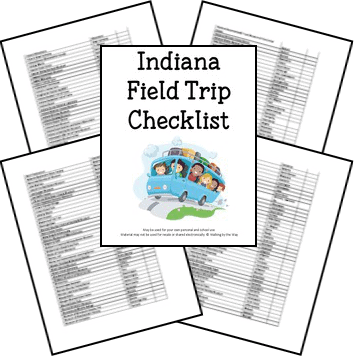 Indiana Field Trip Checklist from Walking by the Way