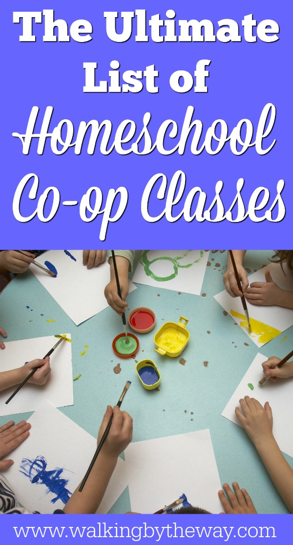 The Ultimate List of Homeschool Co-op Class Ideas from Walking by the Way