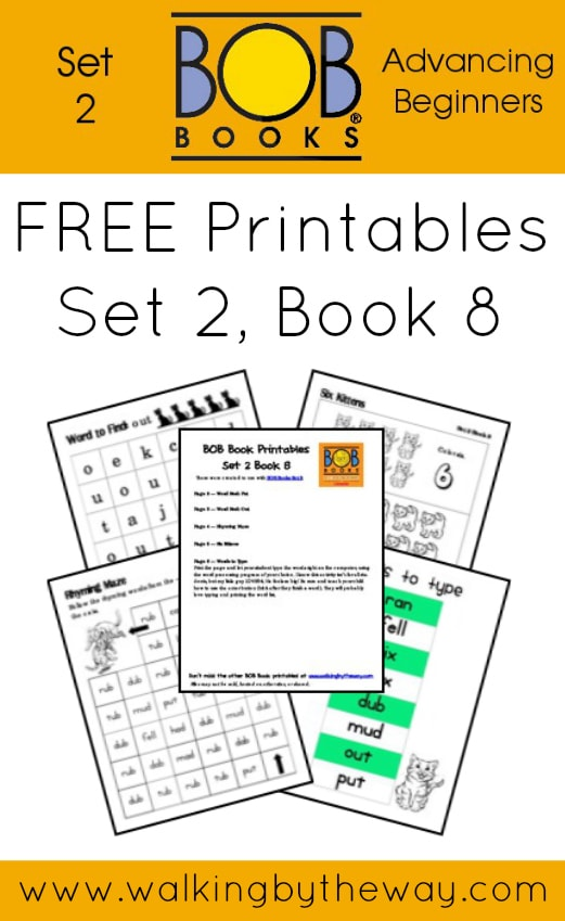 FREE Printables for BOB Books Set 2: Advancing Beginners  (Book 8) from Walking by the Way