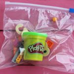 Preschool Busy Bag: Counting with LEGO and Play-Doh