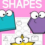 Tracing Shapes Practice Pages for Preschool
