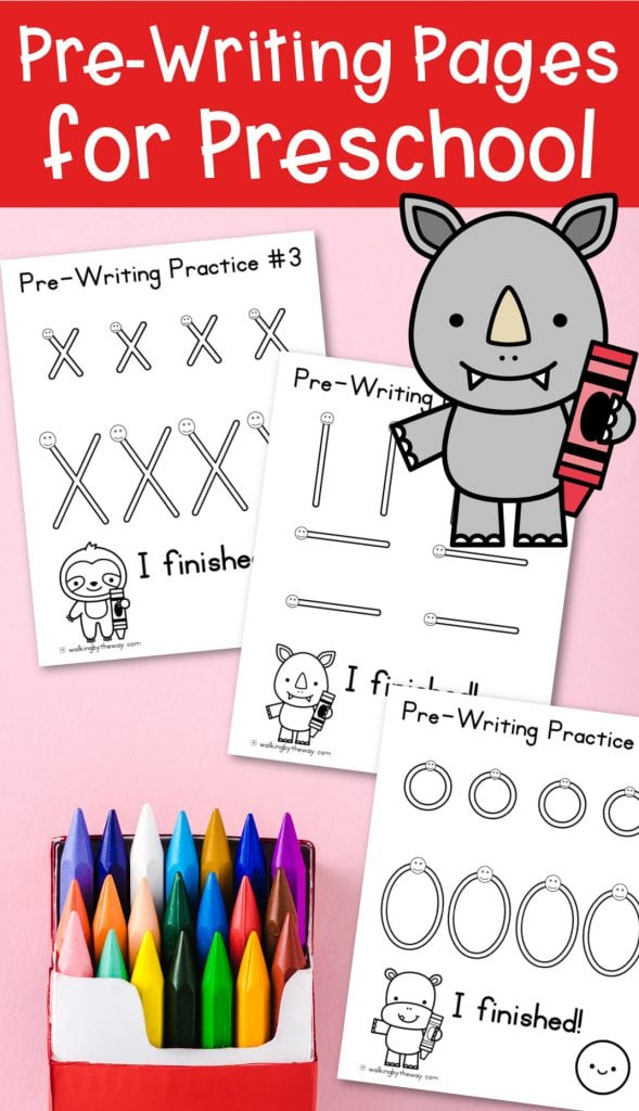 Pre-Writing Practice Pages For Preschool: Large Edition - Walking By The Way