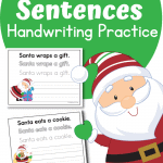 Santa Sentences to Copy for Handwriting Practice