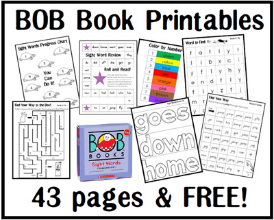 BOB Books ~ Sight Word Printables - Walking by the Way