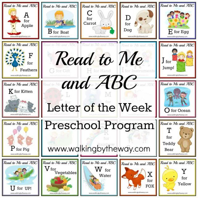 Read to Me & ABC Letter of the Week Preschool Program from Walking by the Way